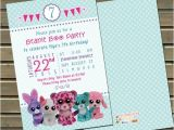 Beanie Boo Party Invitations 20 or 30 Printed Beanie Boo Birthday Party by