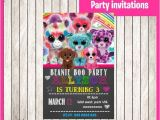 Beanie Boo Party Invitations Beanie Boo Chalkboard Invitation Instant by Printnatyparty