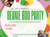 Beanie Boo Party Invitations Beanie Boo Party Ideas
