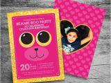 Beanie Boo Party Invitations Stuffed Animal Adoption Birthday Party Invitation