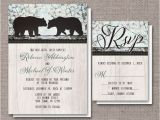Bear Wedding Invitations Artistically Invited Invitations Saint Clair Pa