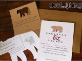 Bear Wedding Invitations Bespoke Unique Wedding Invitation Package with A Bear