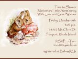 Beatrix Potter Baby Shower Invitations Baby Shower Invitation Beatrix Potter
