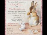 Beatrix Potter Birthday Invitations Imagina On Zazzle Beatrix Potter Bunny Rabbit Baby Shower