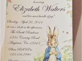 Beatrix Potter Birthday Invitations Peter Rabbit Beatrix Potter Baby Shower or Birthday Party