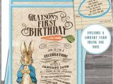 Beatrix Potter Birthday Invitations Vintage Peter Rabbit Beatrix Potter Birthday Party or