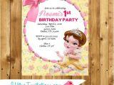 Beauty and the Beast Baby Shower Invitations Beauty & Beast Birthday Invitations Printable Party