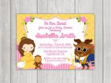 Beauty and the Beast Baby Shower Invitations Beauty and the Beast Baby Shower Invitation by Little