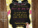 Beauty and the Beast Baby Shower Invitations Beauty and the Beast Belle Baby Shower Invitation Be