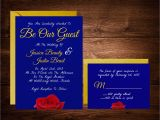 Beauty and the Beast Inspired Wedding Invitations Beauty and the Beast Wedding Invitations Fairytale