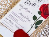 Beauty and the Beast Inspired Wedding Invitations Could these Beauty and the Beast Wedding Photos Be Any