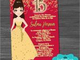 Beauty and the Beast Quinceanera Invitations Invitaciones De Quincenera Muneca Bella Y Bestia oro Xv