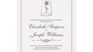 Beauty and the Beast Wedding Invitation Template Beauty and the Beast Enchanted Rose Wedding Invitation