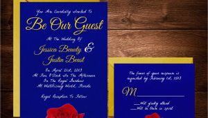 Beauty and the Beast Wedding Invitation Template Free Beauty and the Beast Wedding Invitations Fairytale