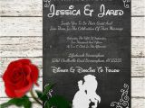 Beauty and the Beast Wedding Invitations Beauty and the Beast Wedding Invitation by Sweetteaandacactus