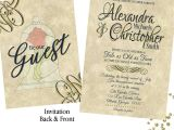 Beauty and the Beast Wedding Invitations Beauty and the Beast Wedding Invitation Set Rsvp Envelope