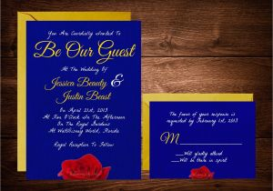Beauty and the Beast Wedding Invites Beauty and the Beast Wedding Invitations Fairytale
