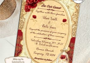 Beauty and the Beast Wedding Invites Beauty and the Beast Wedding Invitations Wedding Invite Red