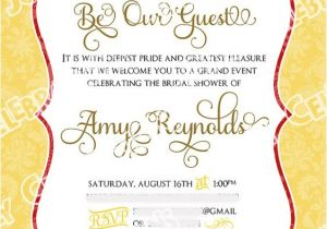 Beauty and the Beast Wedding Shower Invitations Beauty and the Beast Bridal Shower and Sweet On Pinterest