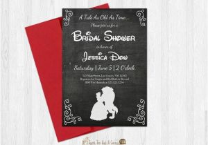 Beauty and the Beast Wedding Shower Invitations Beauty and the Beast Bridal Shower Invitation Printable