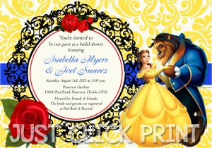 Beauty and the Beast Wedding Shower Invitations Beauty and the Beast Bridal Shower or Birthday Invitation