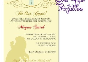 Beauty and the Beast Wedding Shower Invitations Beauty and the Beast Invite Disney Wedding Beauty and