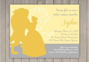 Beauty and the Beast Wedding Shower Invitations Bridal Shower Invitation Beauty and the Beast Digital File