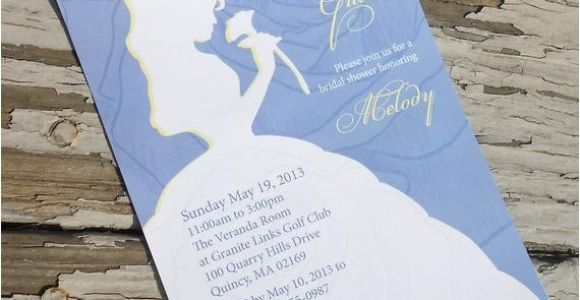 Beauty and the Beast Wedding Shower Invitations Disney Beauty and the Beast Belle Bridal Shower Invitation