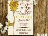 Beauty and the Beast Wedding Shower Invitations Fairytale Beauty and the Beast Bridal Shower by