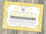 Bee Baby Shower Invites Bee Baby Shower Invitation Bee and Honey B Typography