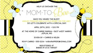 "Bee themed Baby Shower Invites Bee Baby Shower Invitation ""mom to ""bee"" Bee themed"