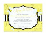 "Bee themed Baby Shower Invites Bee themed Baby Shower Invitation Mom to ""bee"""