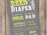 Beer and Diaper Party Invite Template Beer and Diaper Baby Shower Invitation Grey and Yellow