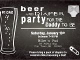 Beer and Diaper Party Invite Template Beer and Diaper Shower Invitation Boy Man Shower Man Diaper