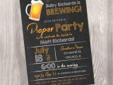 Beer and Diaper Party Invite Template Diaper Party Invitation Beer and Diaper Party Invitation