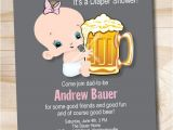 Beer and Diaper Party Invite Template Man Shower Beer and Babies Diaper Party Invitation Printable
