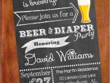 Beer and Diaper Party Invite Template Personalized Printable Beer and Diaper Party Man by