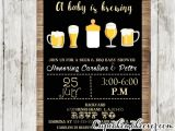 Beer Bbq and Baby Shower Invites A Baby is Brewing Invitation Beer Bbq Shower