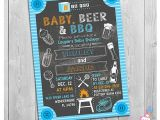 Beer Bbq and Baby Shower Invites Baby Beer & Bbq Baby Shower Invitation