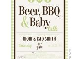 Beer Bbq and Baby Shower Invites Beer Bbq Baby Talk Kateogroup