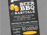 Beer Bbq and Baby Shower Invites Coed Baby Shower Invitation Beer Bbq and Baby Talk