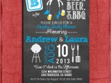 Beer Bbq and Baby Shower Invites Printable Bbq and Beer Couples Baby Shower Chalkboard Style