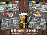 Beer Olympics Party Invitations Beer Olympics Invitationbirthdaycouples by Bowersink On Etsy