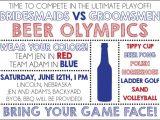Beer Olympics Party Invitations Beer Olympics Invite Digital File