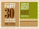 Beer Tasting Birthday Party Invitations Beer Tasting Party Surprise Party Invitation Digital