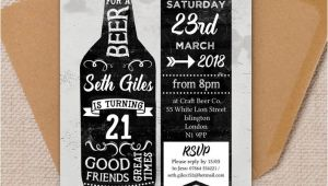 Beer themed Party Invitations Beer themed 21st Birthday Party Invitation From 1 25 Each