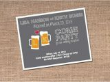 Beer themed Party Invitations Beer themed Wedding Reception Fun Party theme Wedding
