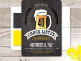 Beer themed Party Invitations Nealon Design Beer Birthday Invitation