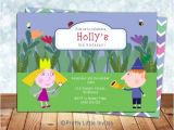 Ben and Holly Party Invites Ben and Holly Invitation Ben & Holly by Prettylittleinvite