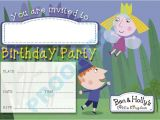 Ben and Holly Party Invites Ben and Holly Kids Children Birthday Party Invitations